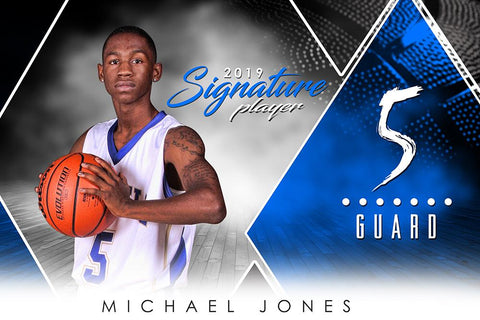 Basketball - v.2 - Signature Player - H Photoshop Template -  PSMGraphix