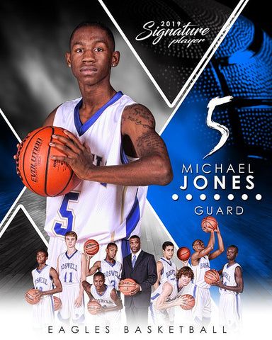 Basketball - v.2 - Signature Player - V T&I Poster/Banner Photoshop Template -  PSMGraphix