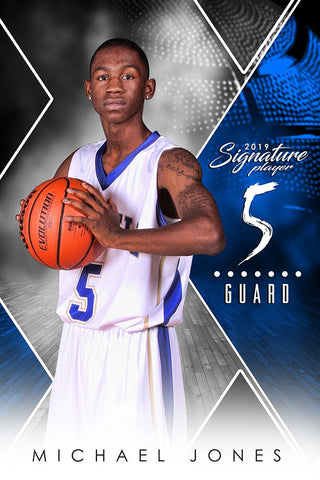 Basketball - v.2 - Signature Player - V Poster/Banner Photoshop Template -  PSMGraphix