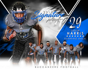 Football - v.2 - Signature Player - H T&I Poster/Banner-Photoshop Template - Photo Solutions