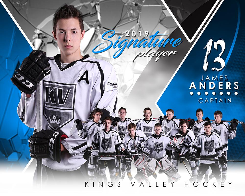 Hockey - v.2 - Signature Player - H T&I Poster/Banner-Photoshop Template - Photo Solutions