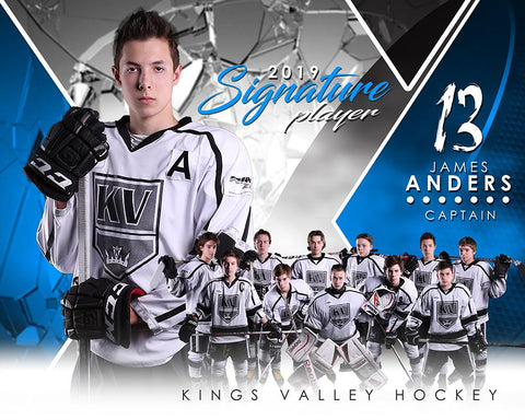 Hockey - v.2 - Signature Player - H T&I Poster/Banner