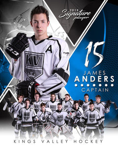 Hockey - v.2 - Signature Player - V T&I Poster/Banner