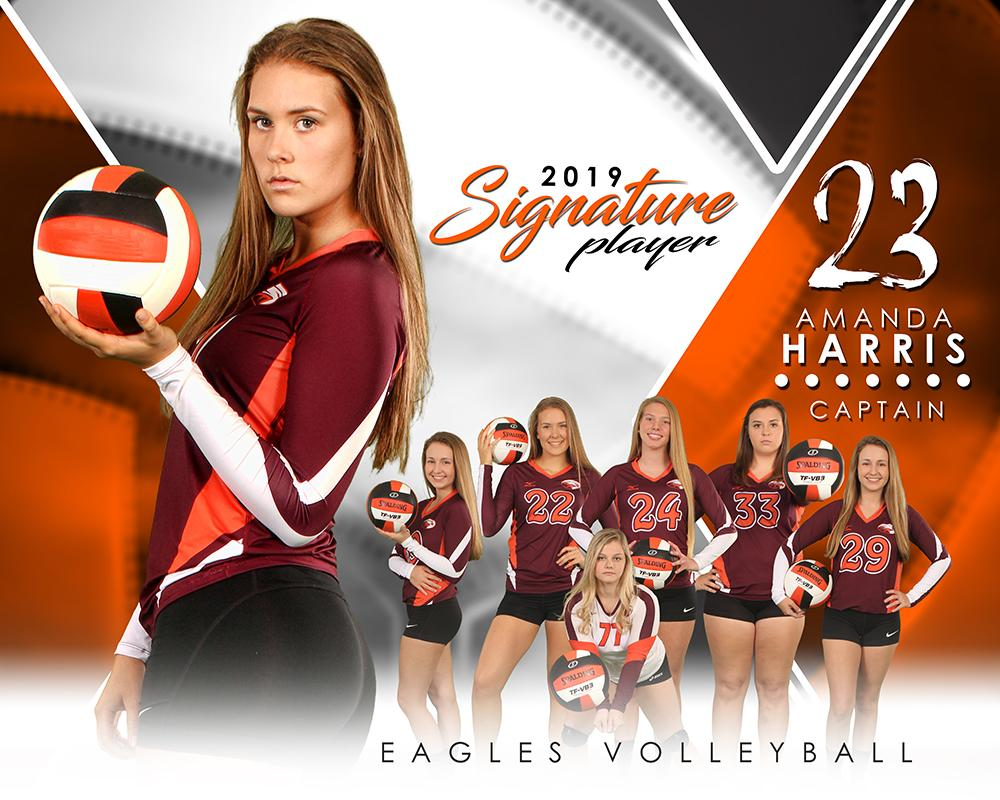 Volleyball - v.2 - Signature Player - H T&I Poster/Banner-Photoshop Template - Photo Solutions