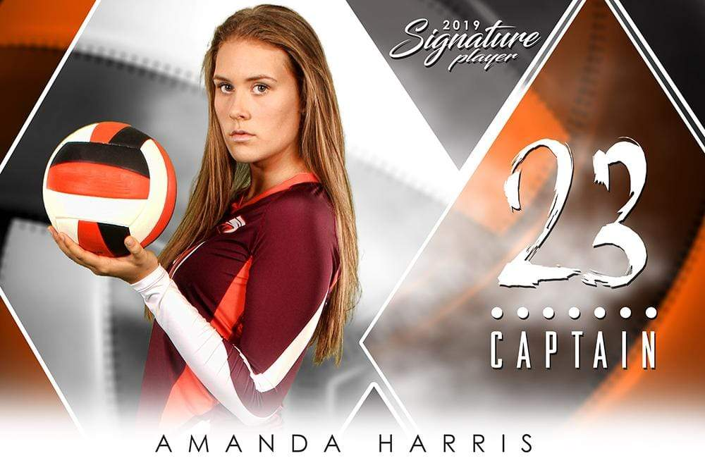 Volleyball - v.2 - Signature Player - H-Photoshop Template - Photo Solutions