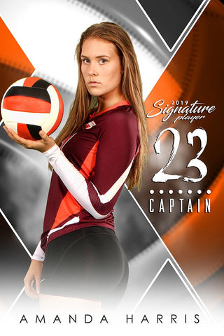 Volleyball - v.2 - Signature Player - V Poster/Banner