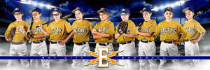 Baseball Night Game - Signature Series - Team Panoramic-Photoshop Template - Photo Solutions