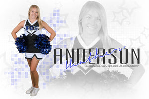 Cheer - Signature Series - Player Banner & Poster Template H-Photoshop Template - Photo Solutions