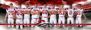 Football Night Game - Signature Series - Team Panoramic-Photoshop Template - Photo Solutions