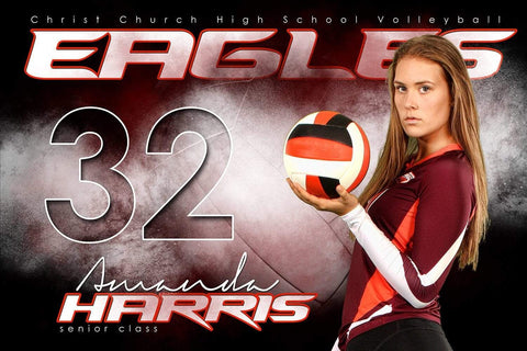 Volleyball Next Level - Signature Series - Player Banner & Poster Template H