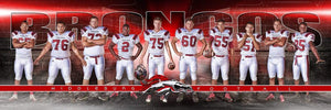 Tunnel Night Game - Signature Series - Team Panoramic-Photoshop Template - Photo Solutions
