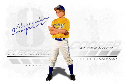 Urban - Signature Series - Player Banner & Poster Template H-Photoshop Template - Photo Solutions