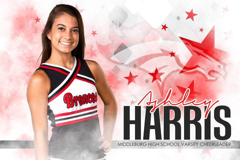 Urban Cheer Stars - Signature Series - Player Banner & Poster Template H-Photoshop Template - Photo Solutions