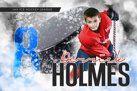 Urban Ice - Signature Series - Player Banner & Poster Template H-Photoshop Template - Photo Solutions
