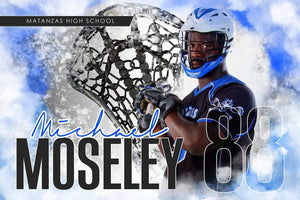 Urban Lacrosse - Signature Series - Player Banner & Poster Template H-Photoshop Template - Photo Solutions