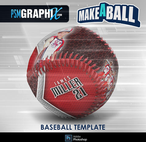 Smokescreen - V.1 - Baseball - Make-A-Ball Photoshop Template-Photoshop Template - PSMGraphix