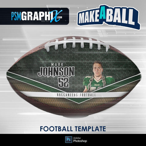 Smokescreen - V.1 - Football (Full Size)  - Make-A-Ball Photoshop Template-Photoshop Template - PSMGraphix