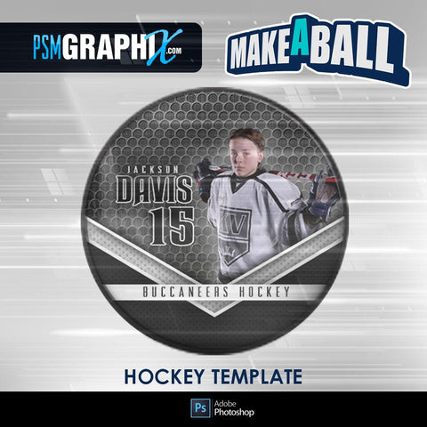 Smokescreen - V.1 - Hockey Puck - Make-A-Ball Photoshop Template-Photoshop Template - PSMGraphix