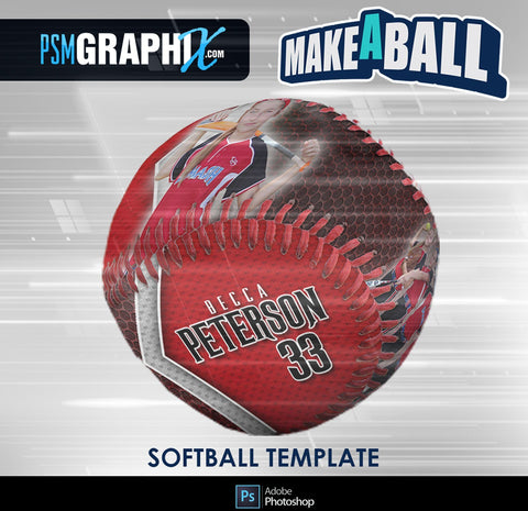 Smokescreen - V.1 - Softball - Make-A-Ball Photoshop Template-Photoshop Template - PSMGraphix