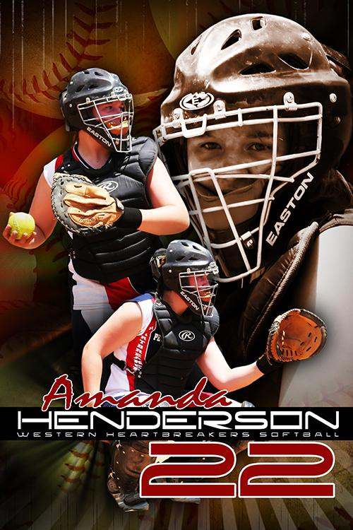 Softball v.5 - Action Extraction Poster/Banner-Photoshop Template - Photo Solutions