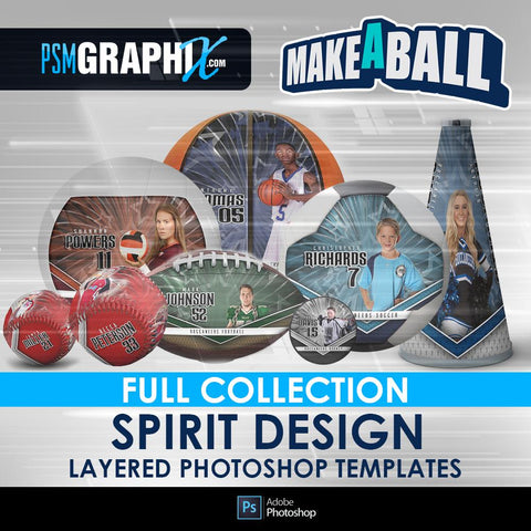 Spirit - V.1 - Make-A-Ball Full Template Collection-Photoshop Template - PSMGraphix