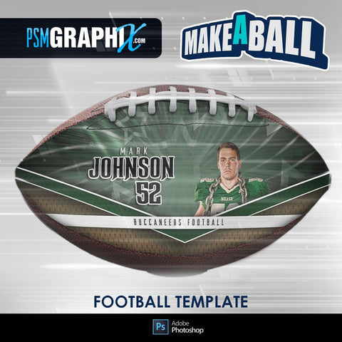 Spirit - V.1 - Football (Full Size)  - Make-A-Ball Photoshop Template-Photoshop Template - PSMGraphix