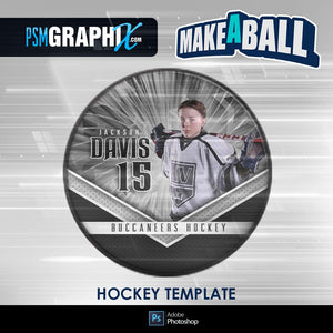 Spirit - V.1 - Hockey Puck - Make-A-Ball Photoshop Template-Photoshop Template - PSMGraphix