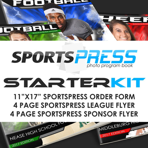01 SPORTSPRESS Starter Kit - Youth League Sports Downloadable Template Photo Solutions PSMGraphix