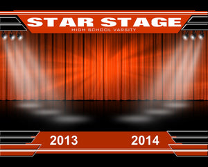 Star Stage v.2 - Xtreme Team Photoshop Template -  PSMGraphix