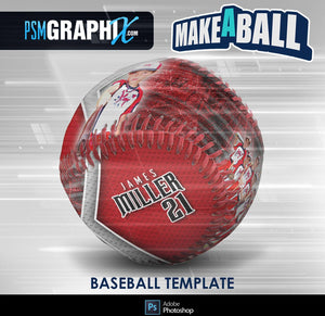 Steel Plate - V.1 - Baseball - Make-A-Ball Photoshop Template-Photoshop Template - PSMGraphix