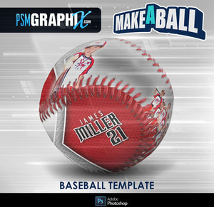 Superstar - V.1 - Baseball - Make-A-Ball Photoshop Template-Photoshop Template - PSMGraphix