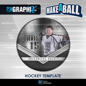 Superstar - V.1 - Hockey Puck - Make-A-Ball Photoshop Template-Photoshop Template - PSMGraphix