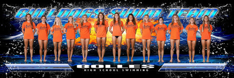 Swim v.3 - Team Panoramic Downloadable Template Photo Solutions PSMGraphix