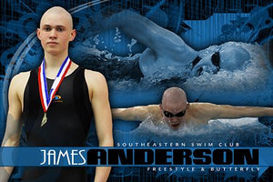 Swimming v.5 - Action Extraction Poster/Banner Downloadable Template Photo Solutions PSMGraphix