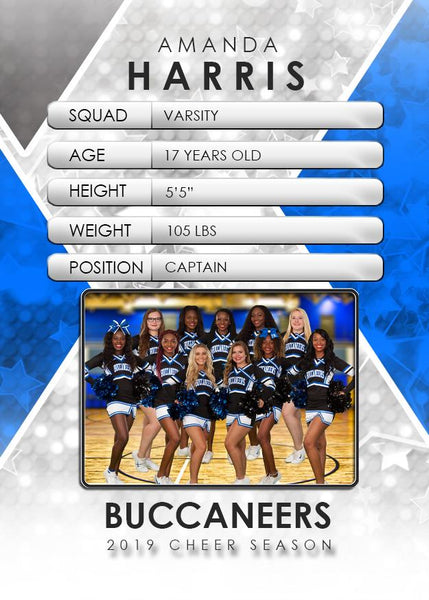 Signature Player - Cheer - V2 - Drop-In Trading Card Template-Photoshop Template - Photo Solutions
