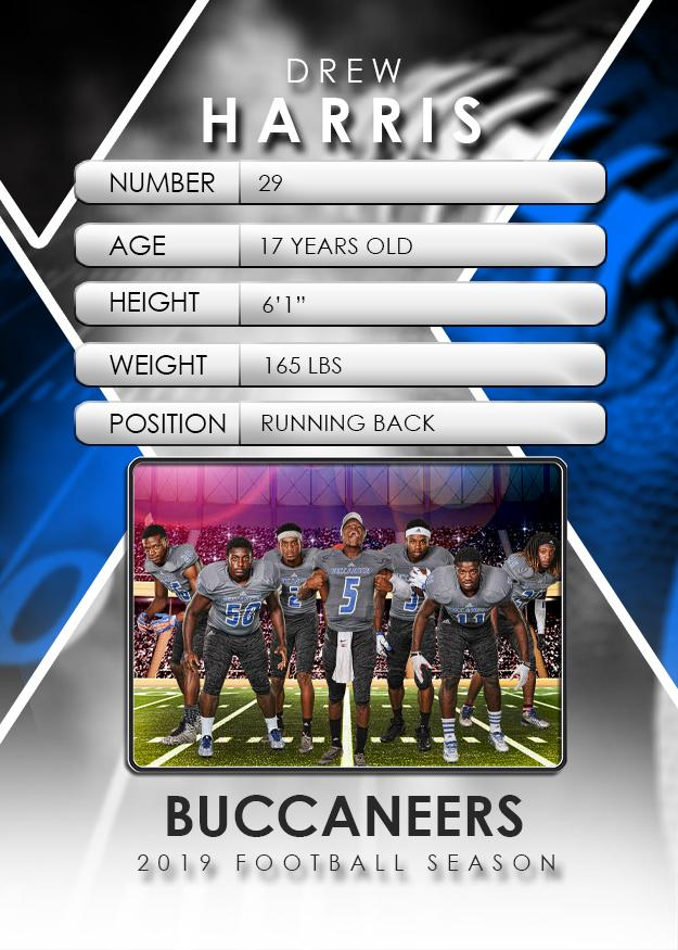 Signature Player Football V2 Drop In Trading Card Template Psmgraphix