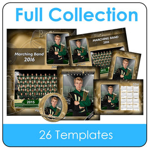 Band Gold - T&I - Full Drop In Collection Photoshop Template -  PSMGraphix