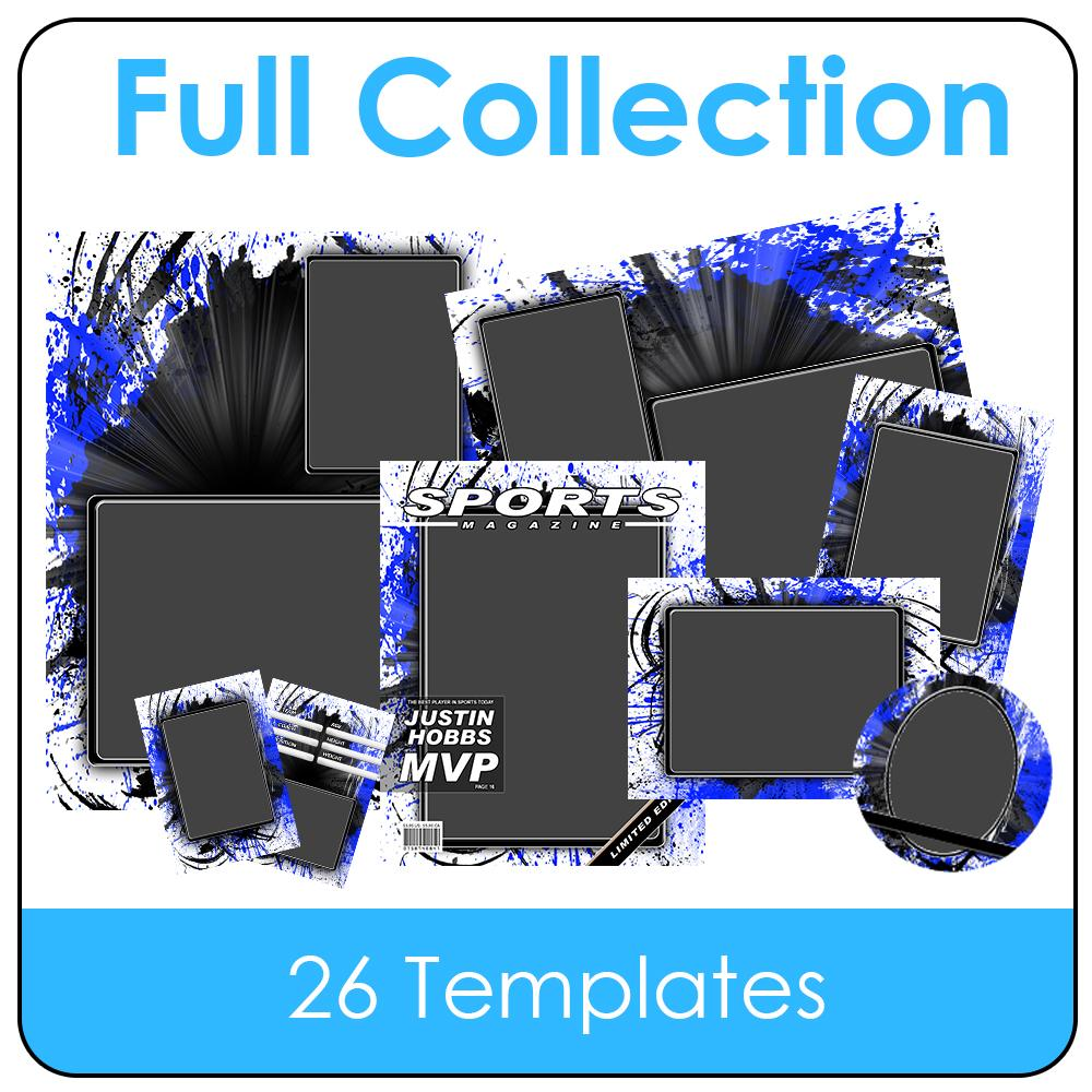 Splatter - T&I - Full Drop In Collection-Photoshop Template - Photo Solutions