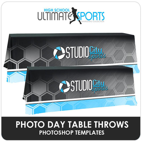 Table Throws - Ultimate High School Sports Marketing Templates-Photoshop Template - Photo Solutions