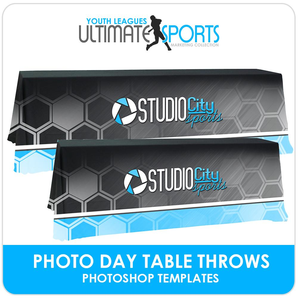 Table Throws - Ultimate Youth Sports Marketing Templates-Photoshop Template - Photo Solutions