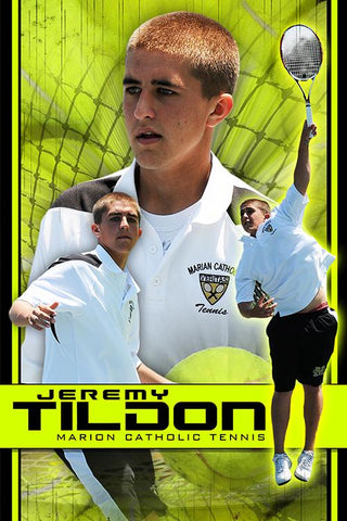 Tennis v.5 - Action Extraction Poster/Banner Downloadable Template Photo Solutions PSMGraphix