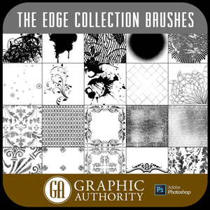 The Edge Collection - Photoshop ABR Brushes-Photoshop Template - Graphic Authority