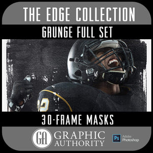 The EDGE Collection - GRUNGE - Full Collection - Frames-Photoshop Template - Graphic Authority
