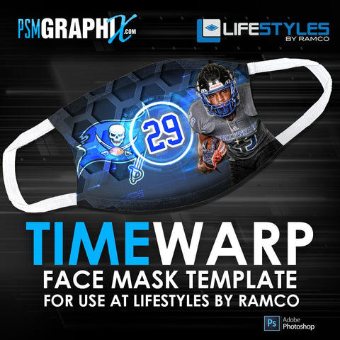 Time Warp - Face Mask Template (Ramco)-Photoshop Template - PSMGraphix