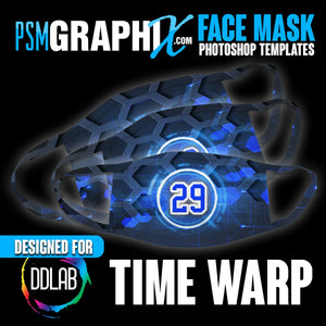 Time Warp - Face Mask Template Set (DDLAB) 3 Sizes-Photoshop Template - PSMGraphix