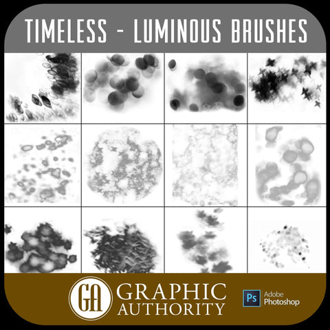 Timeless - Luminous - Photoshop ABR Brushes-Photoshop Template - Graphic Authority
