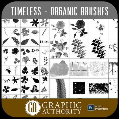 Timeless - Organic - Photoshop ABR Brushes-Photoshop Template - Graphic Authority