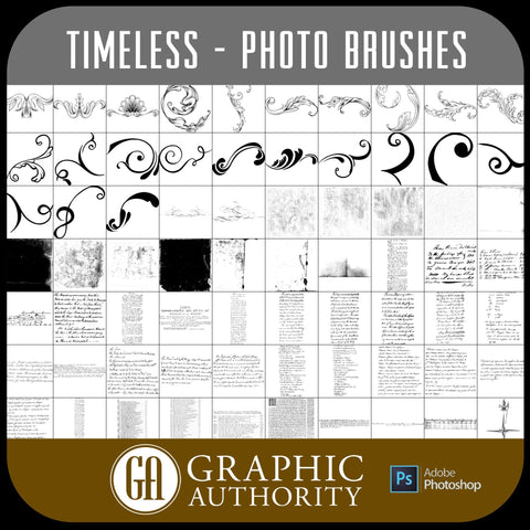 Timeless - Photo Graphics - Photoshop ABR Brushes-Photoshop Template - Graphic Authority