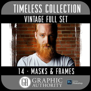 Timeless - Vintage Image Masks & Frames - Full Collection-Photoshop Template - Graphic Authority