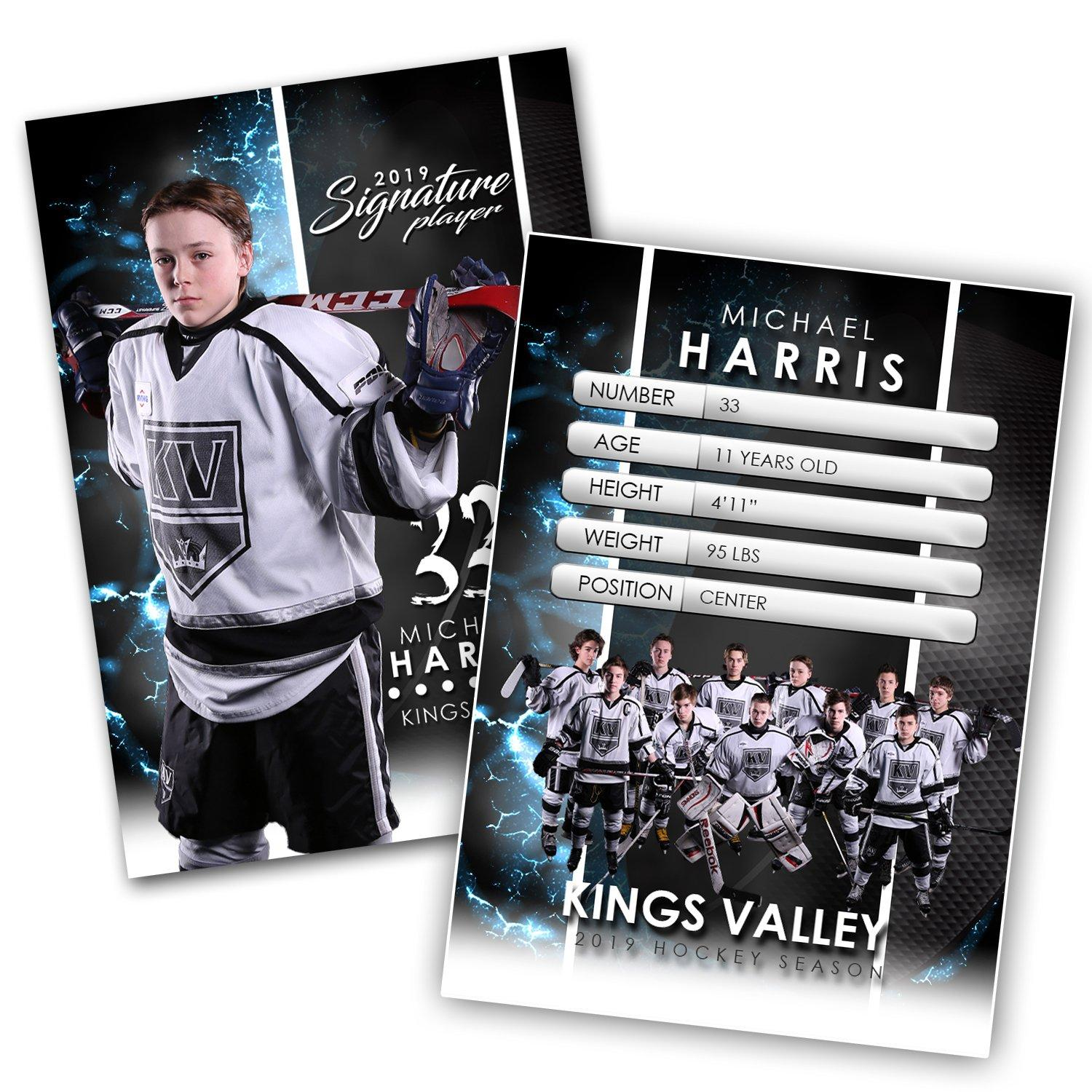 Signature Player - Hockey - V1 - Extraction Trading Card Template-Photoshop Template - Photo Solutions